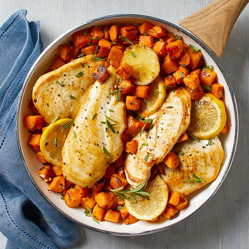 Rosemary Chicken with Sweet Potatoes