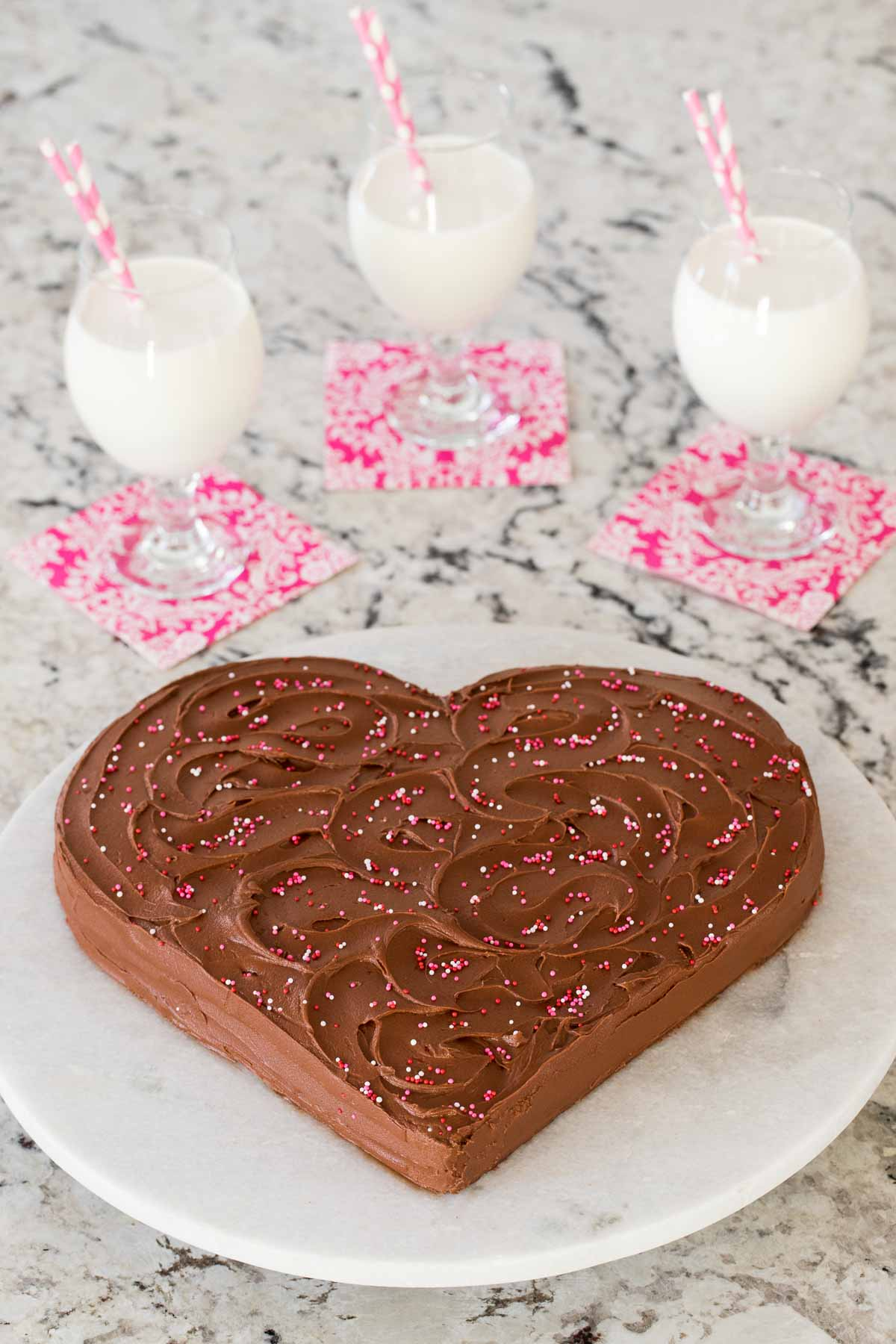 Easy One-Bowl Chocolate Heart Cake