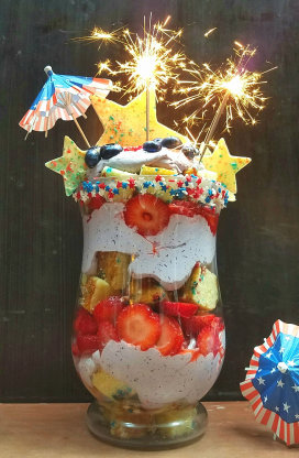 Red, White and Blue 4th of July Trifle