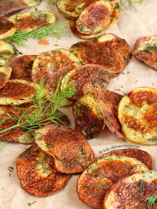 Baked Dill Potato Chips