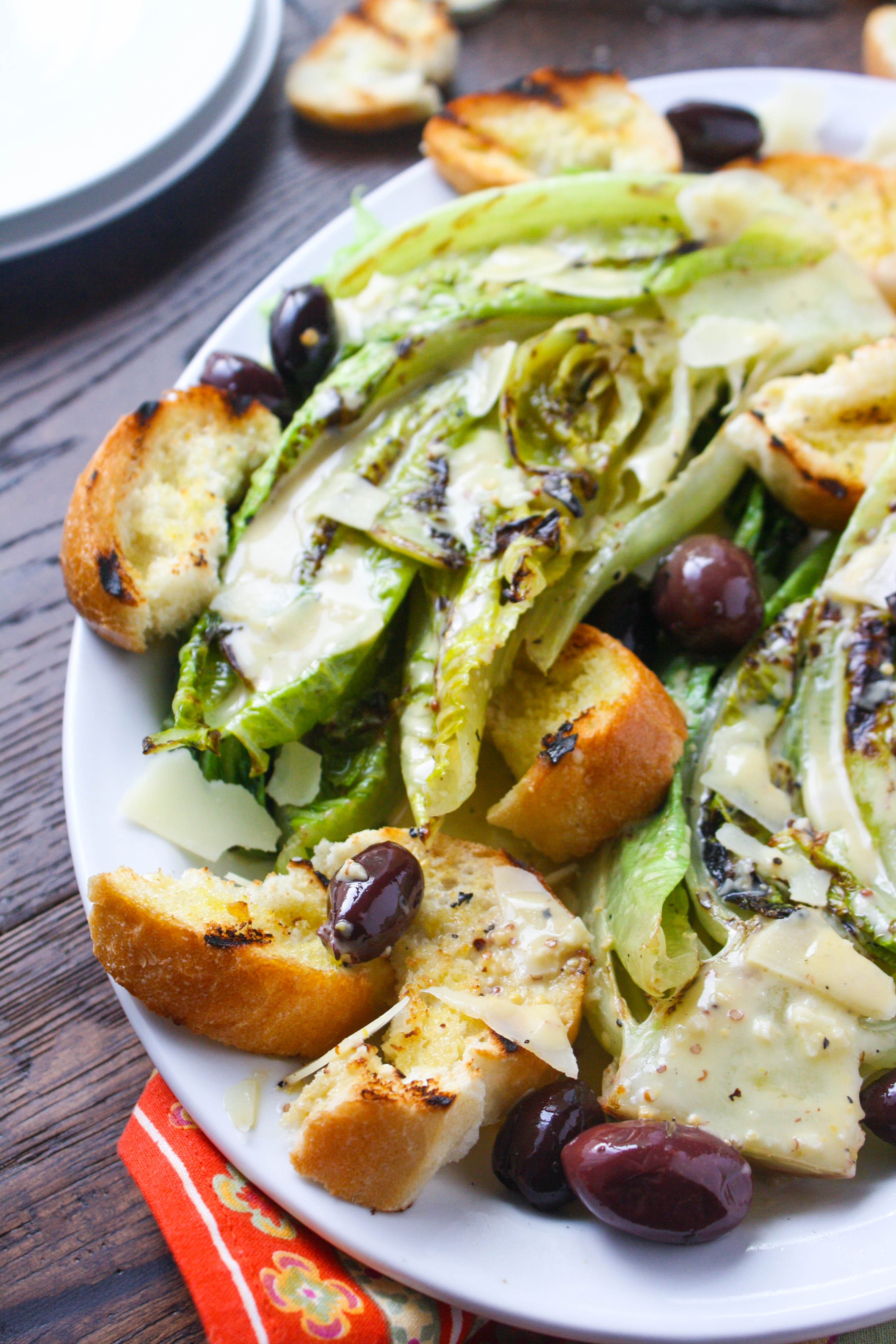 Grilled Caesar Salad and Dressing